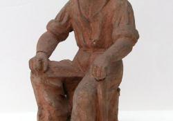 Favágó, 1960, terrakotta, 31 cm