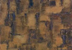 Felülettanulmány 33, 2000, vegyes techn, farost, 120x80 cm