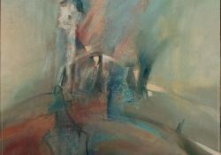 Fények, 1992, olaj, farost, 73x68 cm