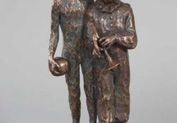 Finálé I, 1989, bronz, kő, 28 cm