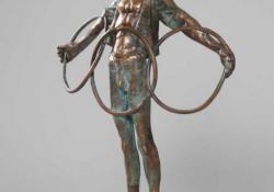 Finálé II, 1997, bronz, kő, 31 cm
