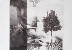 Fölfelé, 2003, papír, lágyalap, mezzotinto, 25x30 cm