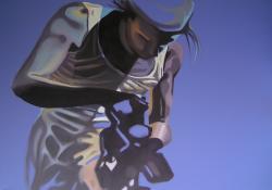 Fotós, 2009, vászon, akril, olaj, 50x70 cm