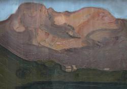 Francia táj, 1979, olaj, faros, 61x81,5 cm