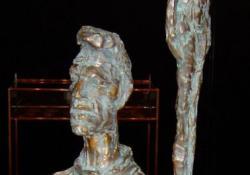 Giacometti asztala, 2004, bronz, 39 cm