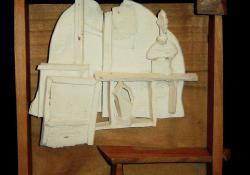 Giacometti I, fehér samott, fa
