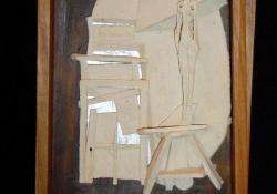 Giacometti II, fehér samott, fa