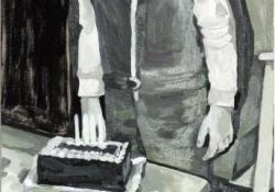 Gilles, 2007, olaj, vászon, 50x110 cm