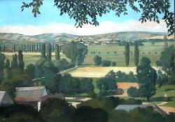 Zalaegerszeg látképe a csácsi hegyről, 1928, olaj, vászon, 65x90 cm