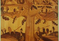 Göcseji legenda, 1973, faintarzia, 165x85 cm
