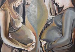 Harmónia, 2013, olaj, vászon, 2x45x100cm