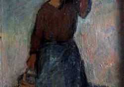 Hazafelé, 1946-50, olaj, vászon, 87x62 cm