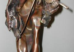 Hegedűs, 2006, vörösréz, bronz, kő