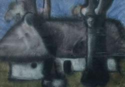 Hegyi pince, 1976, akvarell, 50x66 cm