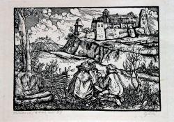 Hírhozó (Dózsa II.), 1964, linómetszet, 175x250 mm