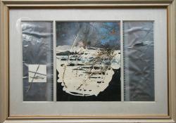 Hóolvadás, 1987, olaj, kollázs, papír, 58x92 cm
