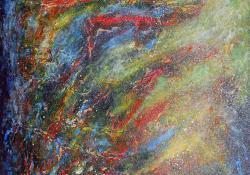 Galaxis, 2014, akril, farost lemez, 48 x 48 cm