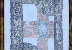 Keresztben, 2011, toll, ceruza, 37 x 26 cm