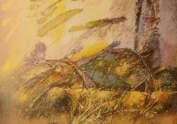 Hullócsont, 1994, olaj, vászon, 110x70 cm