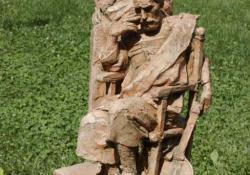 Humanisták, 2003, samott, 67 cm
