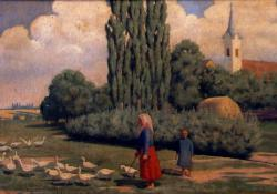 i látkép, 1920-as évek, vászon, olaj, 51,5x63 cm