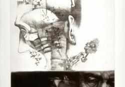 Idő, 2003, papír, lágyalap, mezzotinto, 30x25 cm
