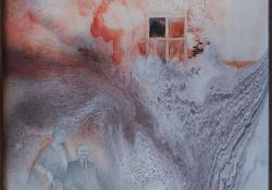 Időablak, 1996, vegyes techn, farost, 53x42 cm