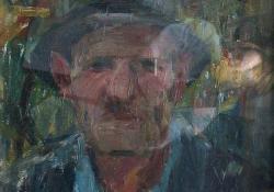 Idősebb férfi portréja, 1940.es évek, olaj, farost, 50x42 cm