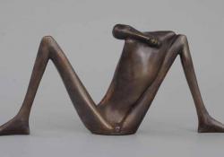 Ignudó I, 1997, bronz, 14 cm