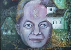 Im memoriam Dr. Szentmihályi Imre, 2000, akril, faros, 60x50 cm