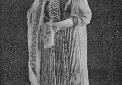 Kalotaszegi asszony, kerámia
