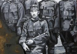 Kanizsai hadtest triptichon, 2001, olaj, vászon, 120x80 cm