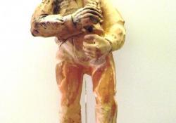 Keresztvivő paraszt, 1926 k, kerámia