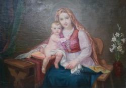 Keszthelyi Madonna, olaj, vászon