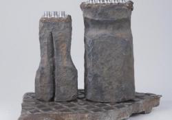 Király és királynő, 1994, öntöttvas, krómacél, kovácsoltvas, 20 cm
