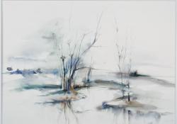 Kis-Balaton, 1996, akvarell, papír, 51x72 cm