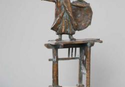 Kis strázsa, 2003, bronz, kő, 43 cm