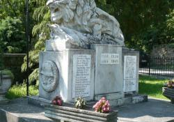 Kisgörbő hősi emlékműve, 1936, műkő