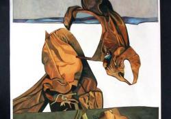 Kollázs, 1983, akvarell, papír, 81,5x42 cm