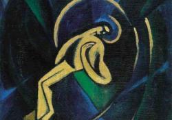 Krisztus, 1923, olaj, vászon, 69x54,5 cm