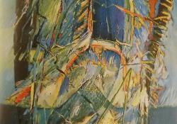 Légajtó, 1995, olaj, vászon, 100x80 cm