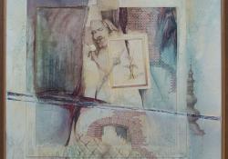 Lendva, 1992, vegyes techn, farost, 55x55 cm