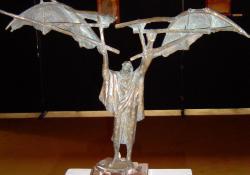Leonardo - A nagy.., bronz, kő