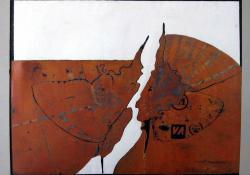 Lepkék, 1982, fametszet, papír, 45x59 cm