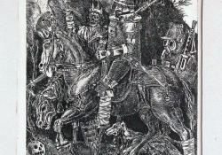 Lovag, halál, ördög; 1971, rézkarc, 240x180 mm