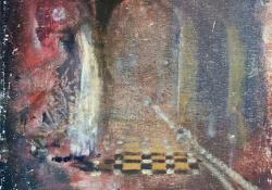 Mágus, 2011, olaj, vászon falemezen, 25x20 cm