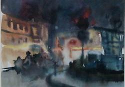 Május 1, 1962, akvarell, 23,5x30,5 cm