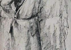 Martinászok, 1960 k, papír, ceruza, tus, 23,4x13,7 cm