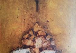 Metamorfózis, 2004, vegyes t, vászon, 81x55 cm