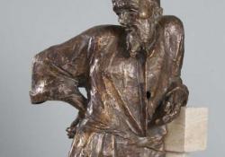 Michelangelo, 2004, bronz, kő, 43 cm
